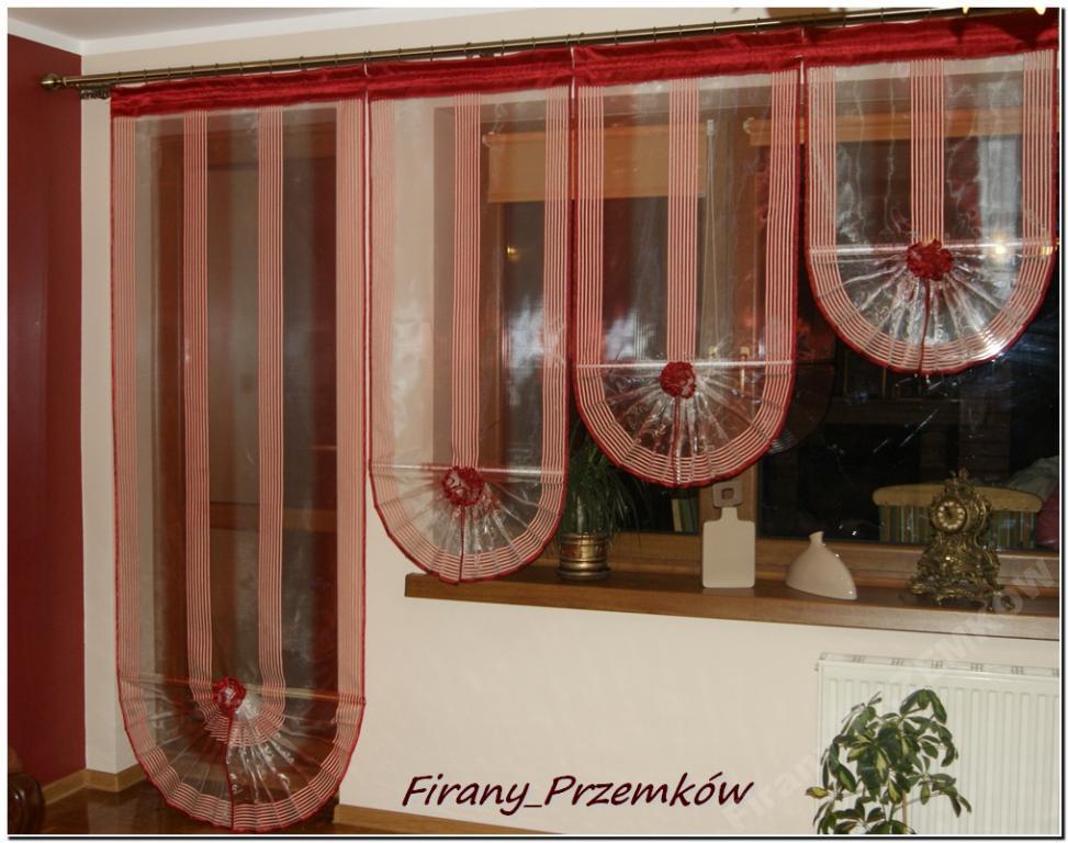 Firany Firanki Organtyna Wachlarze Balkon Nowość